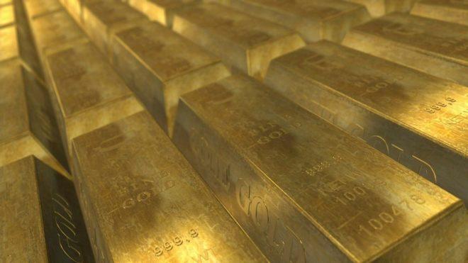 Des lingots d'or. Image d'illustration.