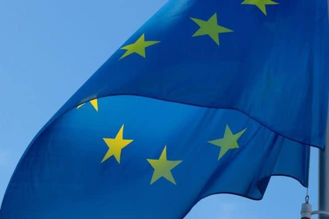 Illustration. Le drapeau européen.