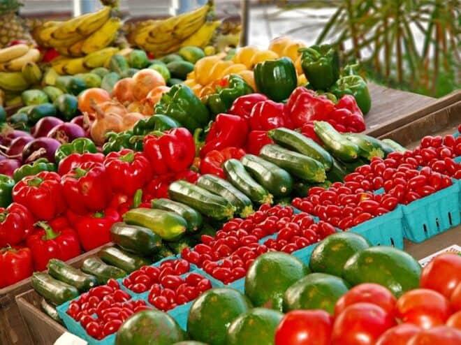 Rayon fruits et légumes.