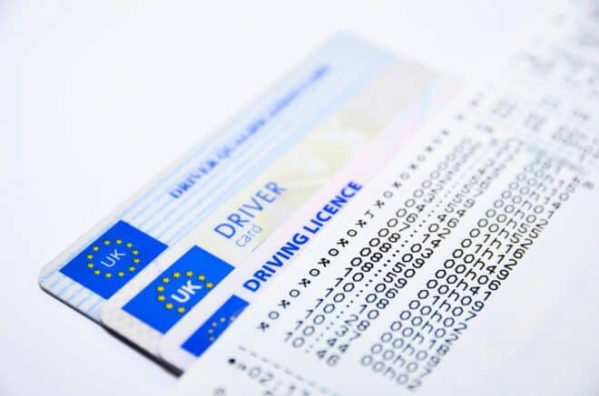 Un permis de conduire. Image d'illustration.