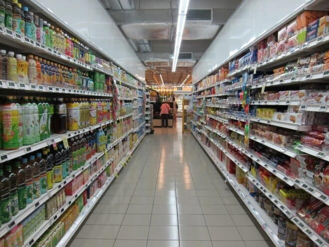 Les rayons d'un supermarchés