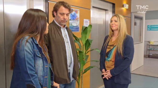 """Clémence, Nicolas et Hélène (Les Mystères de l'Amour saison 26, épisode 5 """"Amour et poésie"""")."""