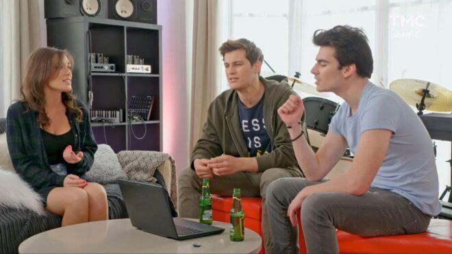 """Fanny, Tim et Tom (Les Mystères de l'Amour saison 26, épisode 11 """"Souvenirs du temps passé"""")."""