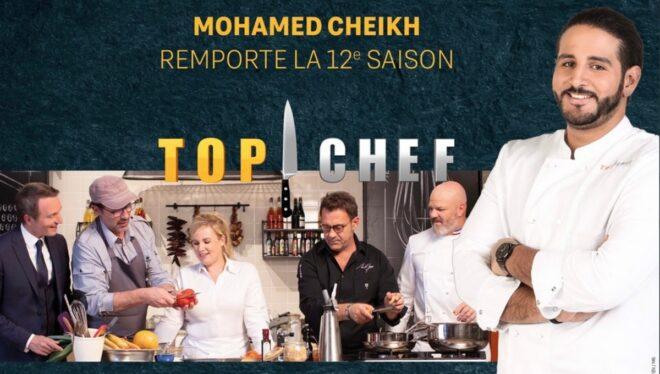 Mohamed Cheikh à droite dans Top chef