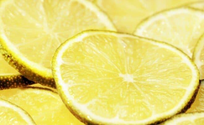Des tranches de citron vert. Image d'illustration.